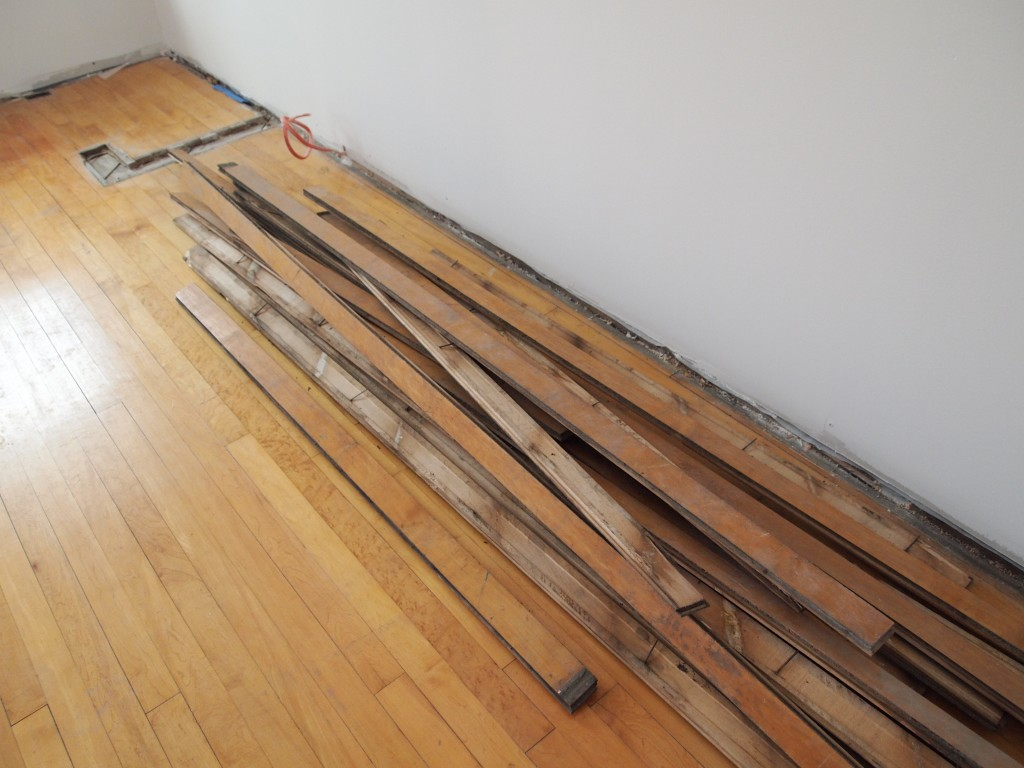 In order to weave replacement wood into an existing floor, the new and old  have - Floors The Temporary House